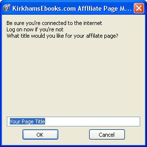 free affiliate package for affiliate pag