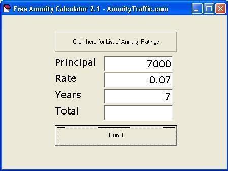 free annuity calculator