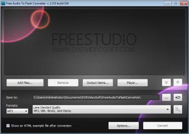 Download Free Audio to Flash Converter