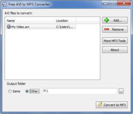 Download Free AVI to MP3 Converter