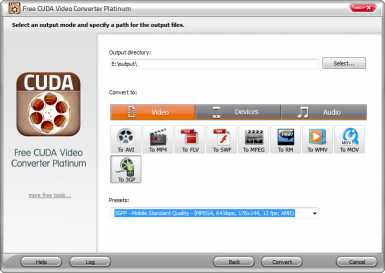 Free CUDA Video Converter Platinum
