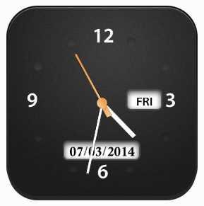 Free Desktop Clock by Media Freeware