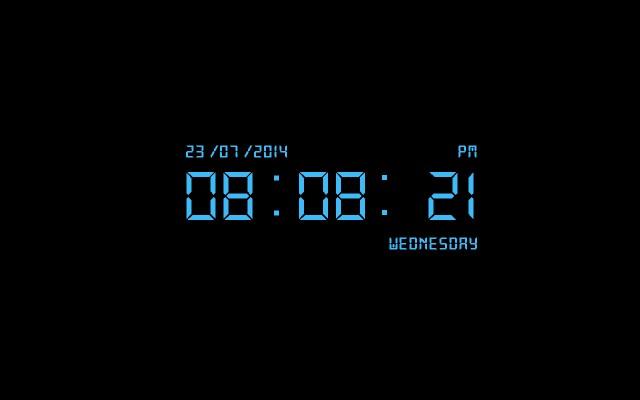 Download Free Digital Clock Screensaver