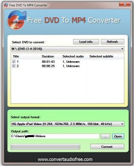 Download Free DVD to MP4 Converter