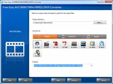 Free Easy AVI/WMV/MP4/MPEG Converter