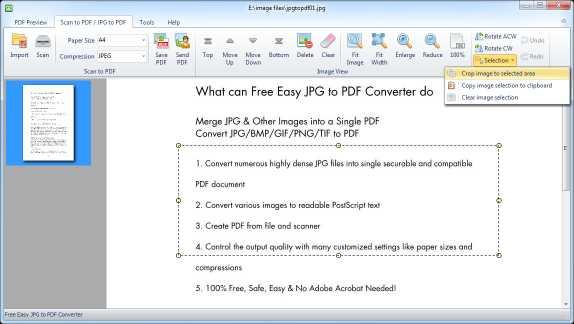 Free Easy JPG to PDF Converter