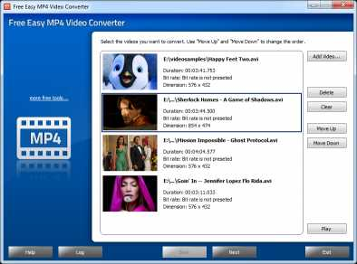 Free Easy MP4 Video Converter