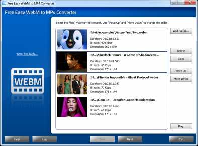 Free Easy WebM to MP4 Converter