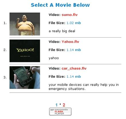 Download Free FLV PHP Driven Player