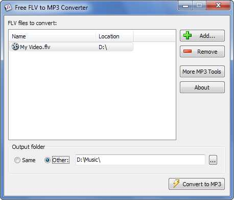 Download Free FLV to MP3 Converter