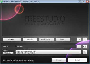 Download Free HTML5 Video Player and Converter