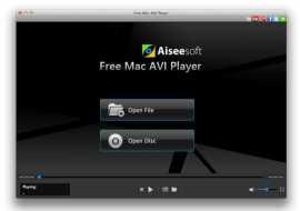 Free Mac AVI Player for Mac