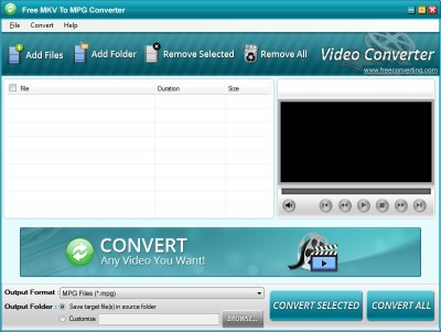 Download Free MKV to MPEG Converter