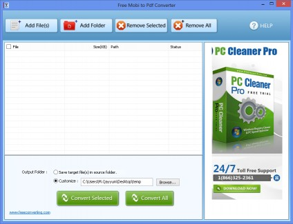 Download Free Mobi to PDF Converter