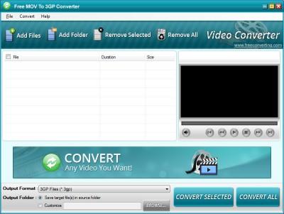 Download Free MOV to 3GP Converter