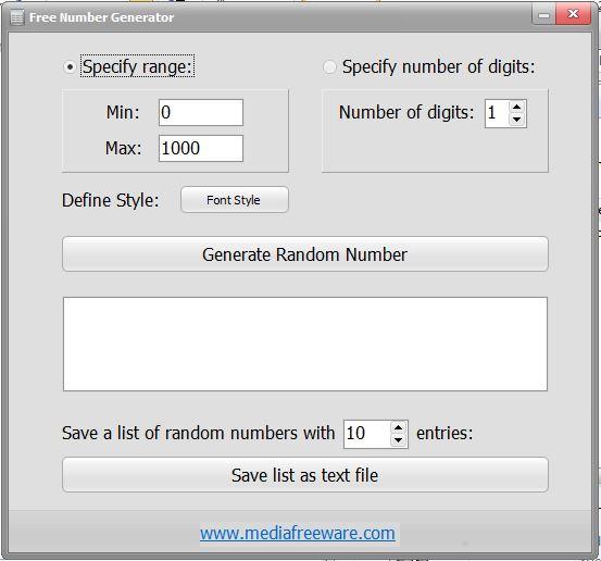 Random Number Generator Online