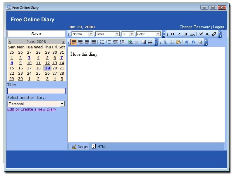 Online Diary