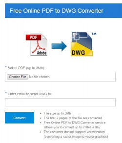 Download Free Online PDF to DWG Converter