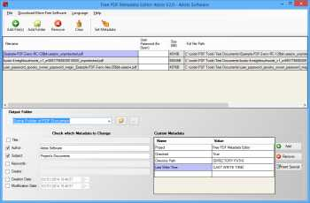 Free PDF Metadata Editor