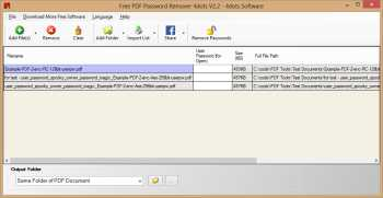 Free PDF Password Remover 4dots