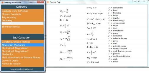 Download Free Physics Formulas