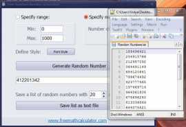 Free Random Number Generator