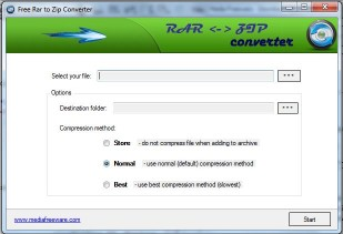 Download Free RAR to ZIP Converter