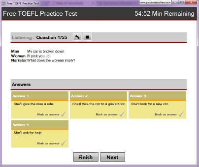 Download Free TOEFL Practice Test