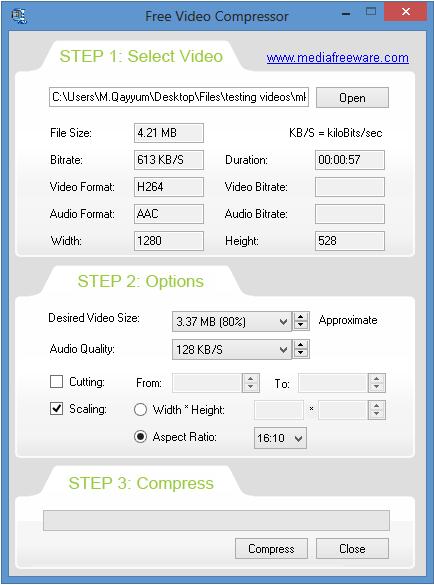 Free Video Compressor - standaloneinstaller com