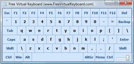 Download Free Virtual Keyboard comfort