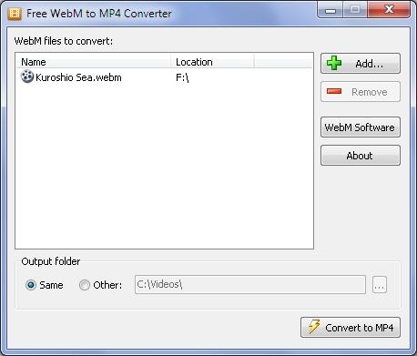 Download Free WebM to MP4 Converter
