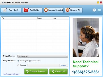 Download Free WMA to AIFF Converter