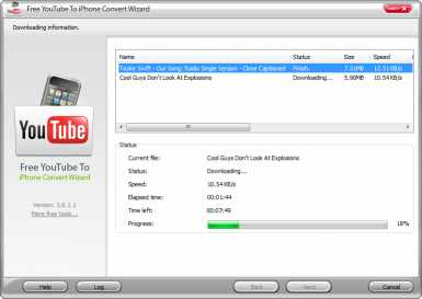 Free YouTube To iPhone Convert Wizard