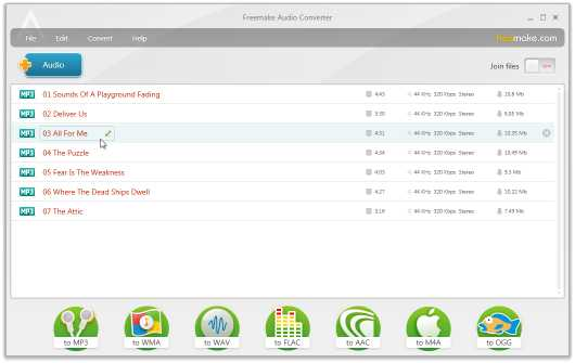 Download Freemake Audio Converter