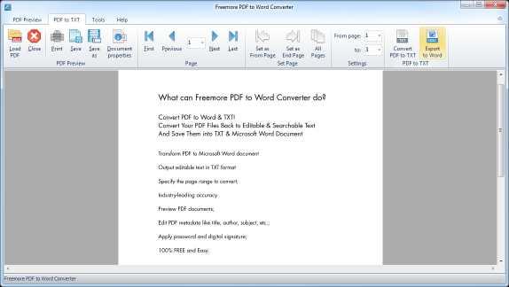 Freemore PDF to Word Converter