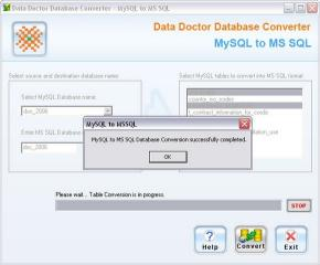 Download Freeware MySQL to MSSQL Converter