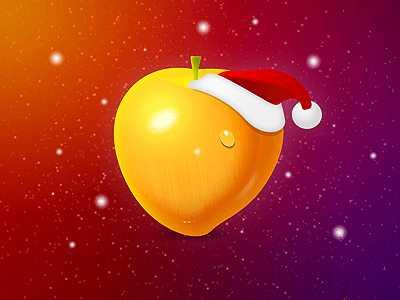 Fruit Christmas Desktop Wallpaper