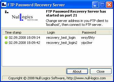Download FTP Password Recovery Server