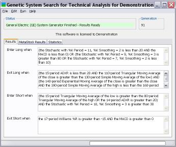 Download Genetic System Search for Tech. Analysis