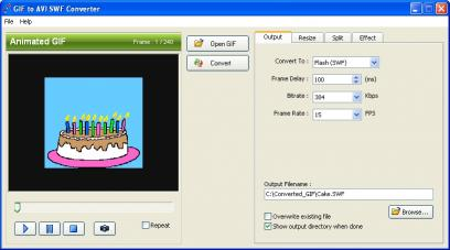 Download GIF to AVI SWF Converter