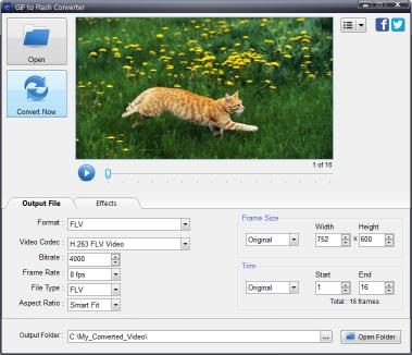 Download GIF to Flash Converter
