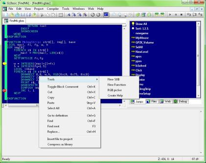Download GLBasic SDK premium