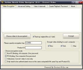 Download Golden Shield Video Encryptor