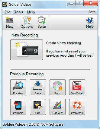 Download Golden Video Free VHS to DVD Converter
