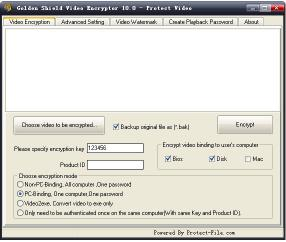 Download GoldenShield Video Encryption Tool