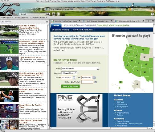 Download Golf Firefox Theme