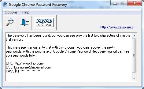 Google Chrome Password Recovery