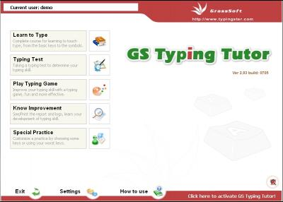 Download GS Typing Tutor Network