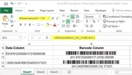 GS1-128 Barcode Font Suite