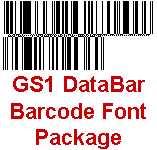 GS1 DataBar Barcode Font Package